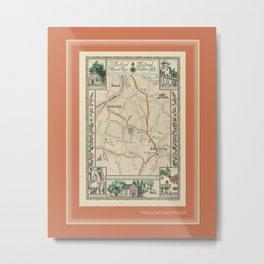 Bedford Village New York Map Print Metal Print