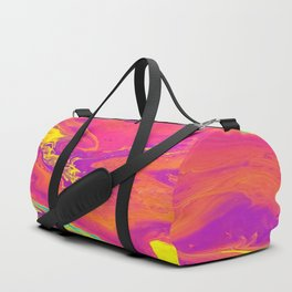 Acrylic pour psychedelia Duffle Bag