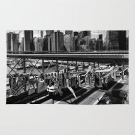 Love Lock on Brooklyn Bridge Rug