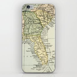 Vintage Map of the South Of The United States Of America iPhone Skin