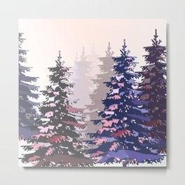 Pine trees pattern Metal Print