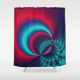 time for fractals -6- curtain Shower Curtain