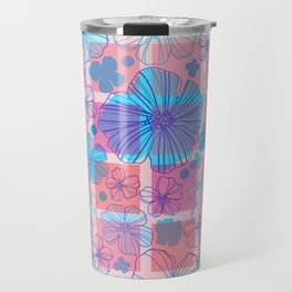 Drawing flowers in cubes Travel Mug