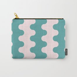 pale indigo and bubble gum small waves Carry-All Pouch