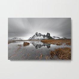 Mountain range with reflection Metal Print