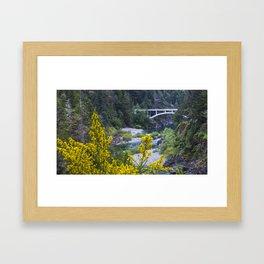 Rouge River Bridge Framed Art Print