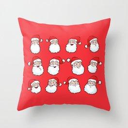 12 Santas Throw Pillow