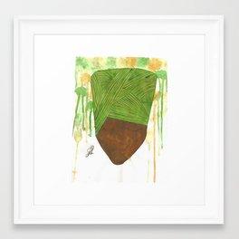 Head covered girl 5 Framed Art Print