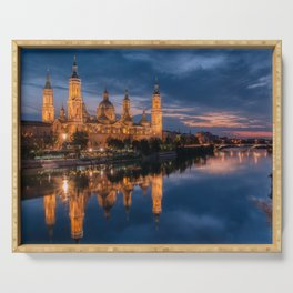 Zaragoza, Aragon, Spain. Serving Tray