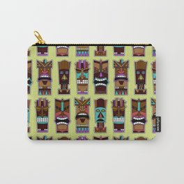 Colorful Tiki Mask Pattern Carry-All Pouch