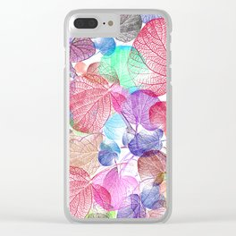 Leaf mosaic(28) Clear iPhone Case