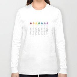 7 Chakra Chart & Symbols #21 Long Sleeve T-shirt