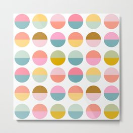 Colorful and Bright Circle Pattern Metal Print