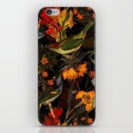 Vintage & Shabby Chic - Midnight Tropical Bird Garden iPhone Skin