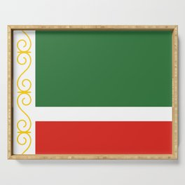flag of Chechnya Serving Tray