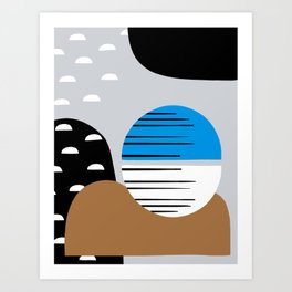 Abstract abyss Art Print
