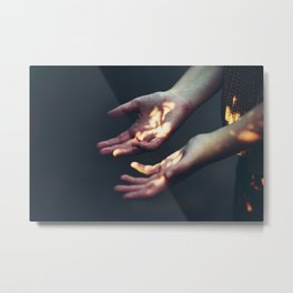 Set on Fire Metal Print