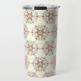 Flower Pattern Artwork B1 Travel Mug