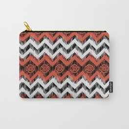 Ikat Tribal orange Carry-All Pouch