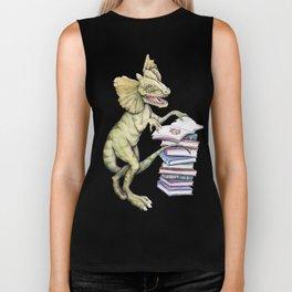 Dilophosaurus Loves Books Biker Tank