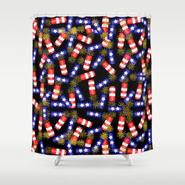 Firecracker Celebration Shower Curtain