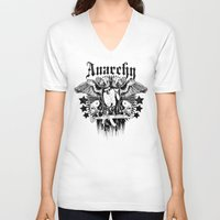 sons of anarchy V-neck T-shirts featuring Anarchy by Tshirt-Factory