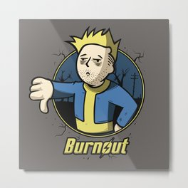 Burnout Metal Print