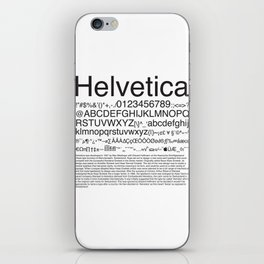 Helvetica (Black) iPhone Skin