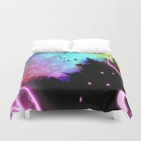roald dahl Duvet Covers featuring Magic in the Air by Geni