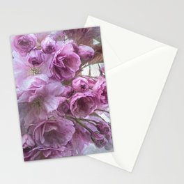 Painterly blossom Stationery Cards
