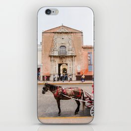 Horse Carriage in Downtown Merida, Mexico iPhone Skin