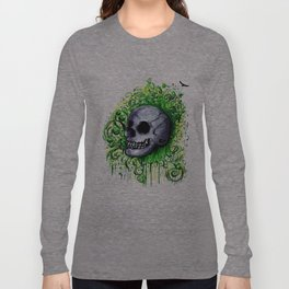 Sherlock - Graffiti Skull  Long Sleeve T-shirt