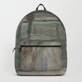 Flood Waters by Claude Monet Backpack