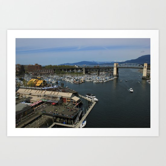 Sea Market Art Print