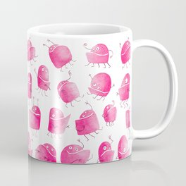 Pink Underbite Monsters Coffee Mug