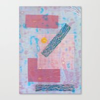 holographic Canvas Prints featuring holographic by Julia schindler