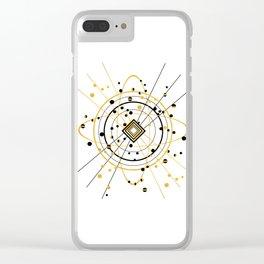 Complex Atom Clear iPhone Case