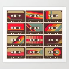 Mixed Tapes Art Print