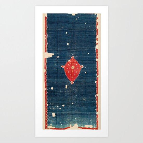 Balikesir  Antique Turkish Kilim Rug Print by vickybragomitchell
