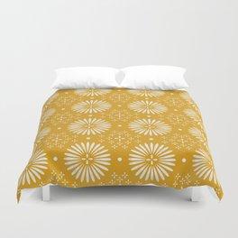 Happy Sunshine - yellow art, sunshine, boho art, bohemian, tile, home decor, yellow, yellow art print Duvet Cover