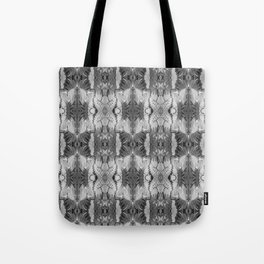 B&W Open Your Eyes Patterned Image Tote Bag