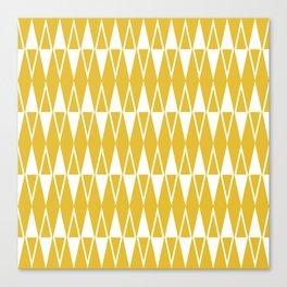 Mid Century Modern Diamond Pattern Mustard Yellow 234 Canvas Print