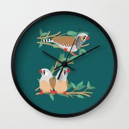 Z is for Zebra Finch Wall Clock