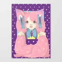 risa rodil Canvas Prints featuring Risa by blah