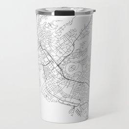 Honolulu White Map Travel Mug