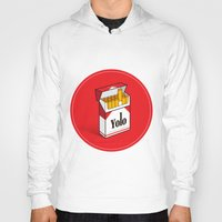 cigarettes Hoodies featuring YOLO Cigarettes  by RJ Artworks