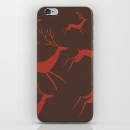 Autumn with deers. iPhone Skin