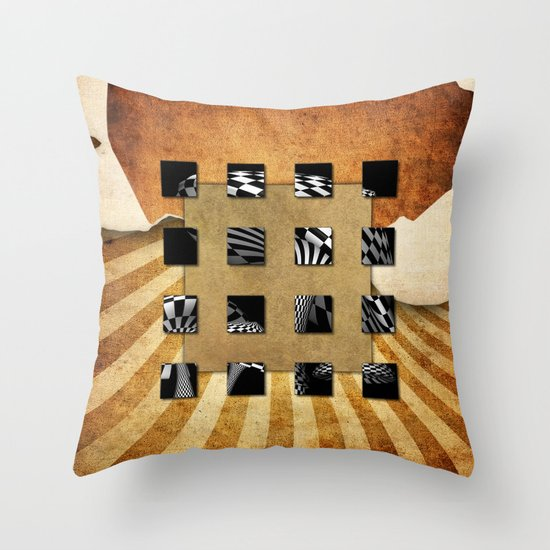 SQUARE AMBIENCE Throw Pillow