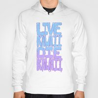 kawaii Hoodies featuring Live Kawaii Die Kawaii by Lixxie Berry Illustration