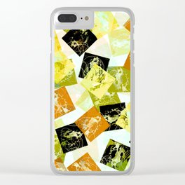 Abstract blocks Clear iPhone Case